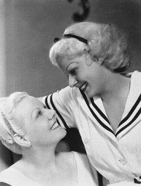 08 Apr 1937, Los Angeles, California, USA --- Original caption: Mothers in Hollywood. This is one of a set of pictures showing Hollywood figures and their mothers, with whom they are seen frequently in the film capital. Here are lovely Jean Harlow, and her equally lovely mother. --- Image by © Bettmann/CORBIS
