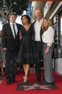 Actress Mariska Hargitay (2nd from left) and siblings Mickey Hargitay Jr., Zoltan Hargitay and Jayne Marie Mansfield attend Mariska Hargitay's Star ceremony on the Hollywood Walk of Fame on Friday, Nov. 8, 2103 in Los Angeles. (Photo by Paul A. Hebert/Press Line Photos)